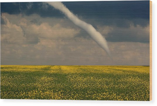 Funnel Clouds Wood Print