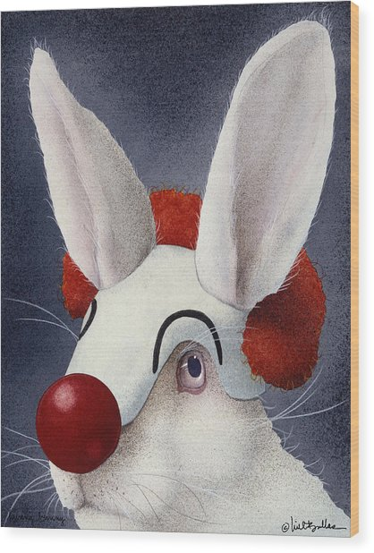Funny Bunny... Wood Print by Will Bullas