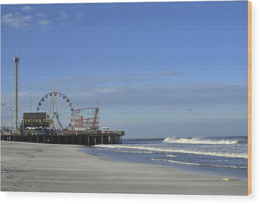 Funtown Pier Seaside Heights Nj Jersey Shore Wood Print