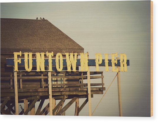 Funtown Vintage Wood Print
