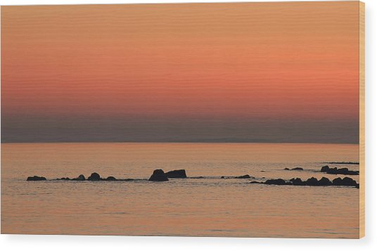Furbo Beach Sunset Wood Print by Peter Skelton