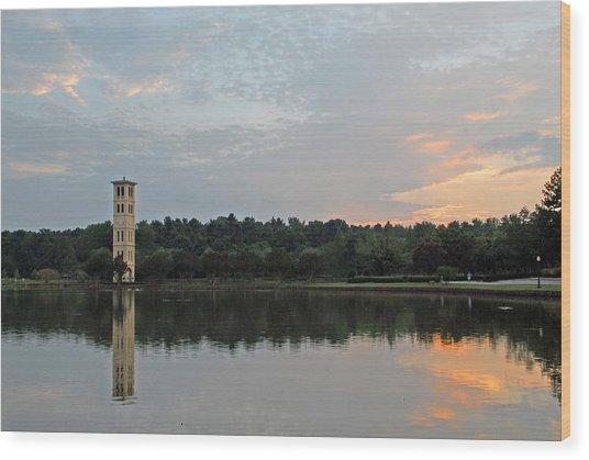 Furman University Bell Tower  Greenville Sc Wood Print