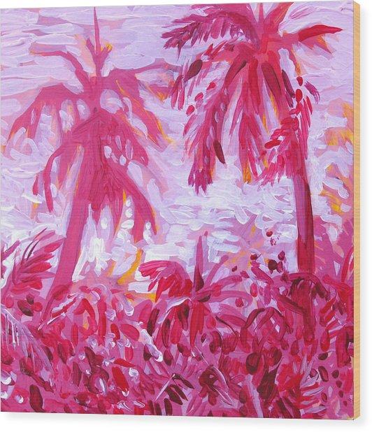 Fuschia Landscape Wood Print