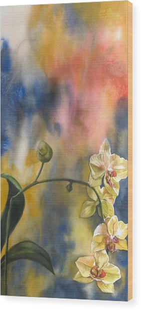 Fusion Orchid Wood Print
