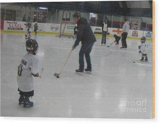 Future Hockey Players Wood Print