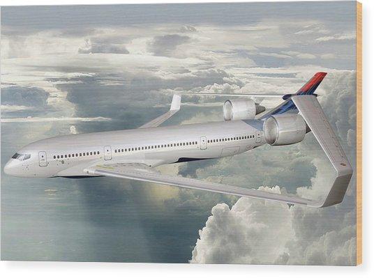 Future Hybrid Aircraft Wood Print by Nasa/lockheed Martin