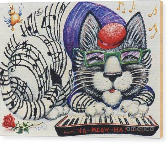 Fuzzy Catterwailen Wood Print