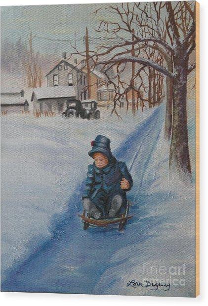 Gails Christmas Adventure Wood Print
