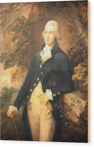Gainsborough's Francis Bassat -- Lord De Dunstanville Wood Print