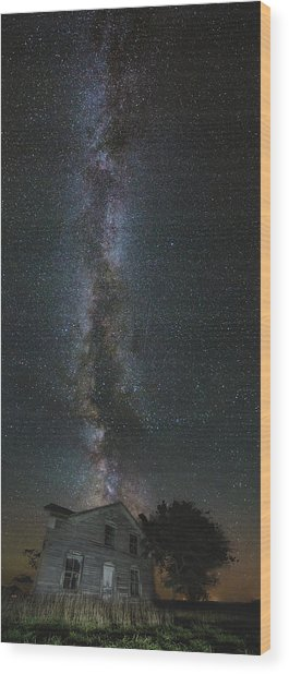 Galactic Alignment Wood Print