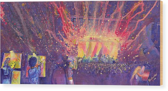Galactic At Arise Music Festival Wood Print