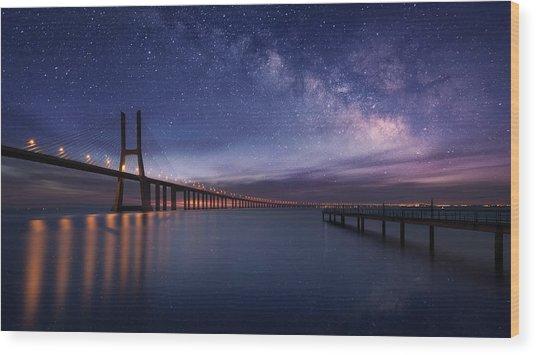 Galactic Bridge Wood Print