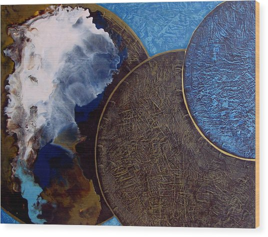 Galactic Consciousness Wood Print