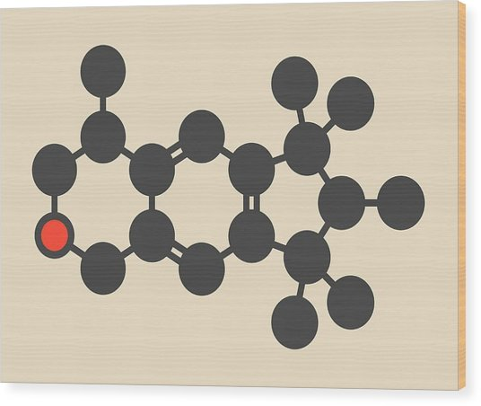 Galaxolide Synthetic Musk Molecule Wood Print by Molekuul