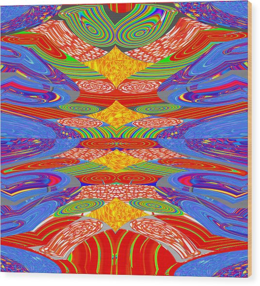 Galaxy Transit Union Ufo Docking Station Fantasy 2050 Art Background Designs  And Color Tones N Colo Wood Print