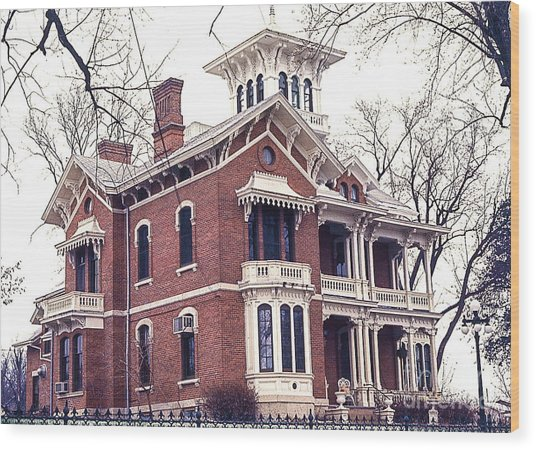 Galena Illinois. The Beautiful Victorian Belvedere Home. Wood Print