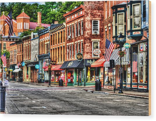 Galena Main Street Early Summer Morning Wood Print