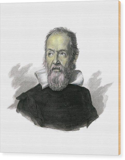 Galileo Galilei Wood Print by Detlev Van Ravenswaay