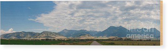 Gallatin Range Panoramic Wood Print