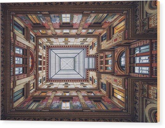 Galleria Sciarra, Rome. Wood Print