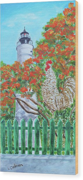 Gallo Pinto Rooster Wood Print