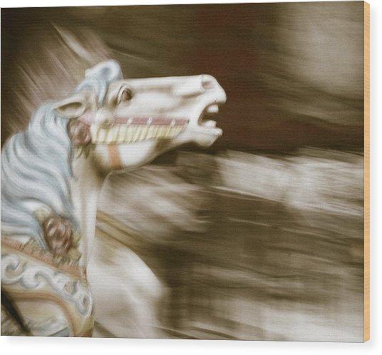 Gallop 4 Wood Print