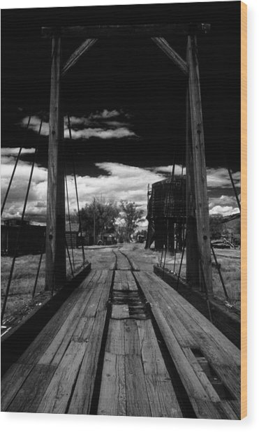 Wood Print featuring the photograph Gallows Gives Direction by David Bailey