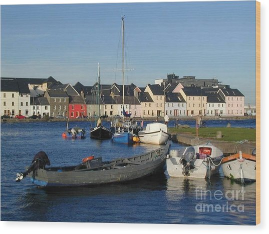 Galway Harbour At The Claddagh Wood Print