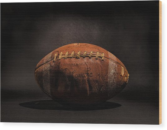 Game Ball Wood Print