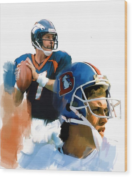 Game Elway  John Elway Wood Print