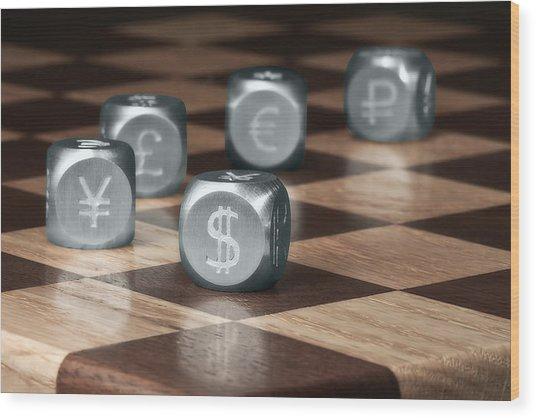 Game Of Chance Wood Print