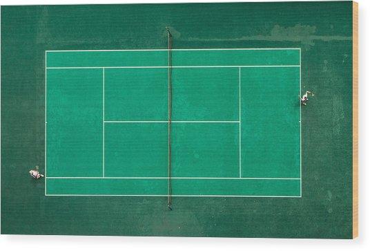 Game! Set! Match! Wood Print by Fegari