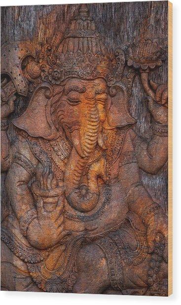 Ganesh 2 Wood Print