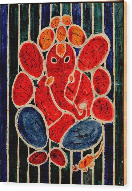 Ganesha-3 Wood Print
