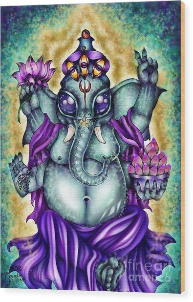 Ganesha Wood Print by Coriander  Shea