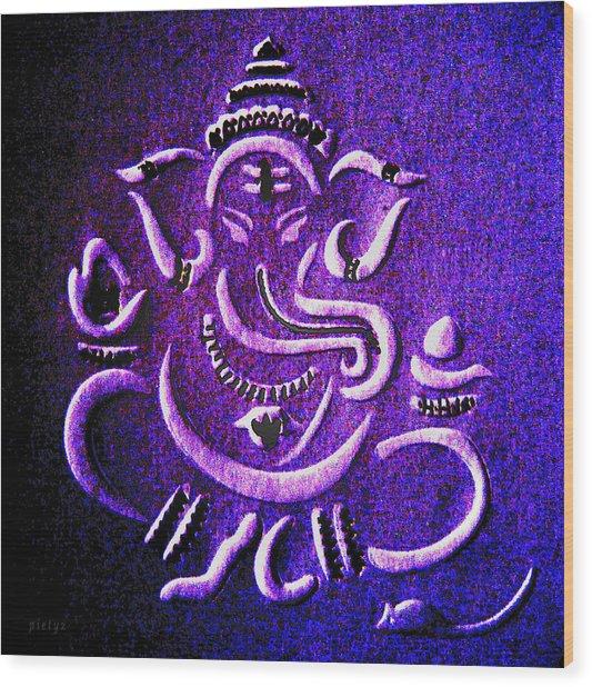 Ganesha Ganpathi Wood Print