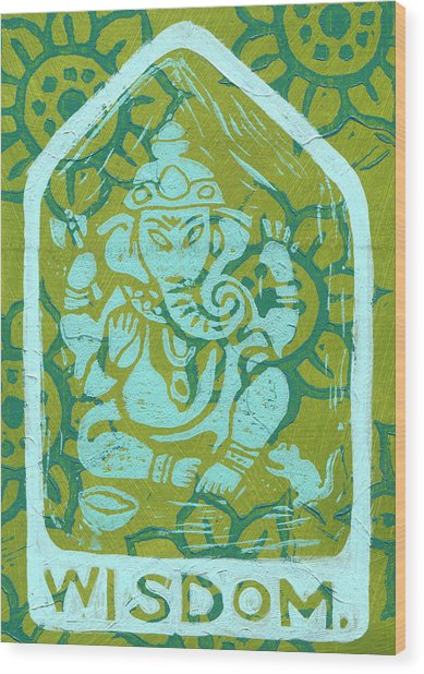 Ganesha Wisdom  Wood Print