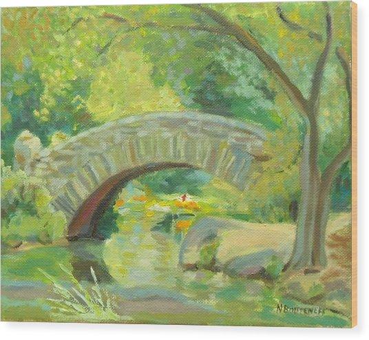 Gapstow Bridge Ny Wood Print