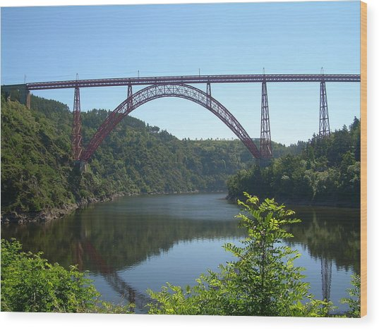 Garabit Viaduct Wood Print by Tommy Budd