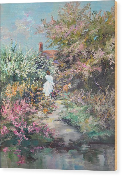 Garden By The Water Wood Print by Steven Nevada