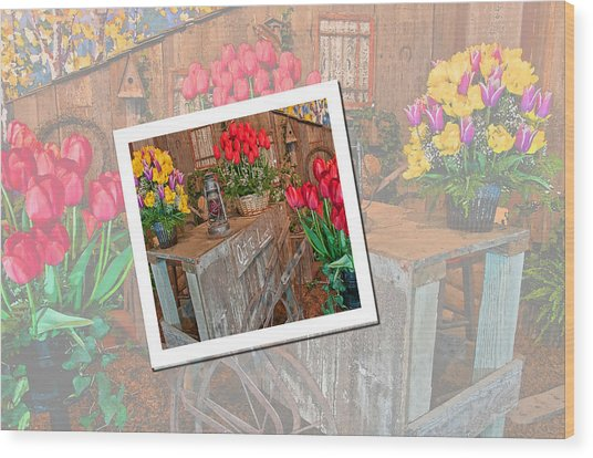 Garden Cart Out To Lunch Wood Print
