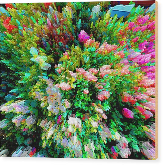 Garden Explosion Wood Print