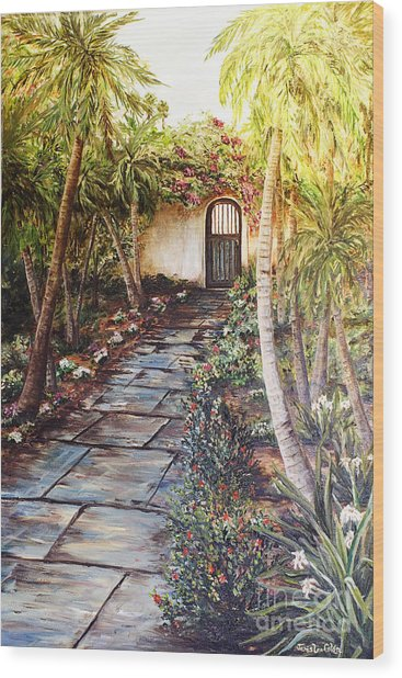 Garden Gate To Rosemary's Cottage Wood Print