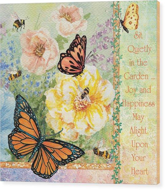 Garden Joy Wood Print