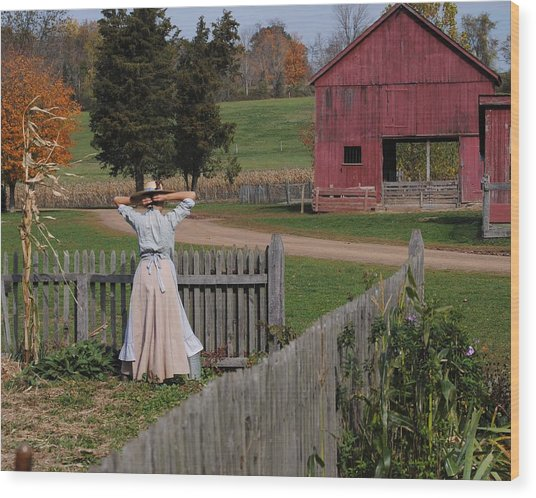 Garden Lady Wood Print
