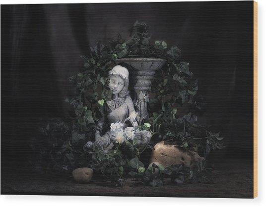 Garden Maiden Wood Print