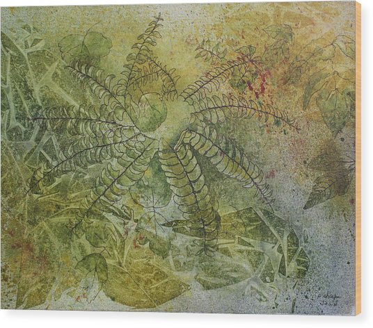 Garden Mist Wood Print by Patsy Sharpe
