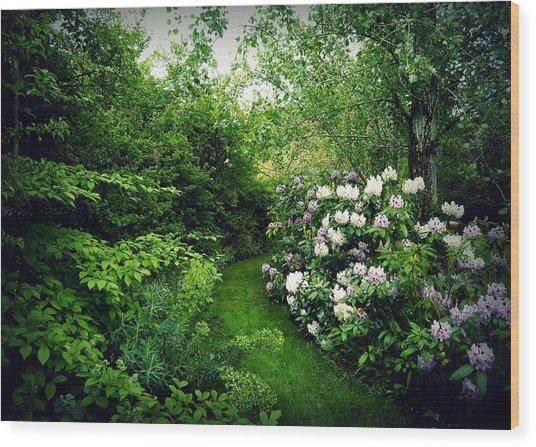Garden Of Enchantment Wood Print