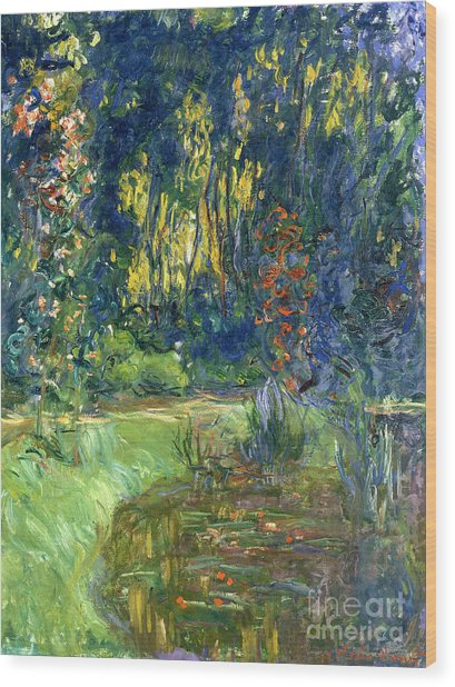 Garden Of Giverny Wood Print