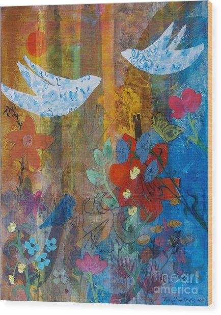 Garden Of Love Wood Print